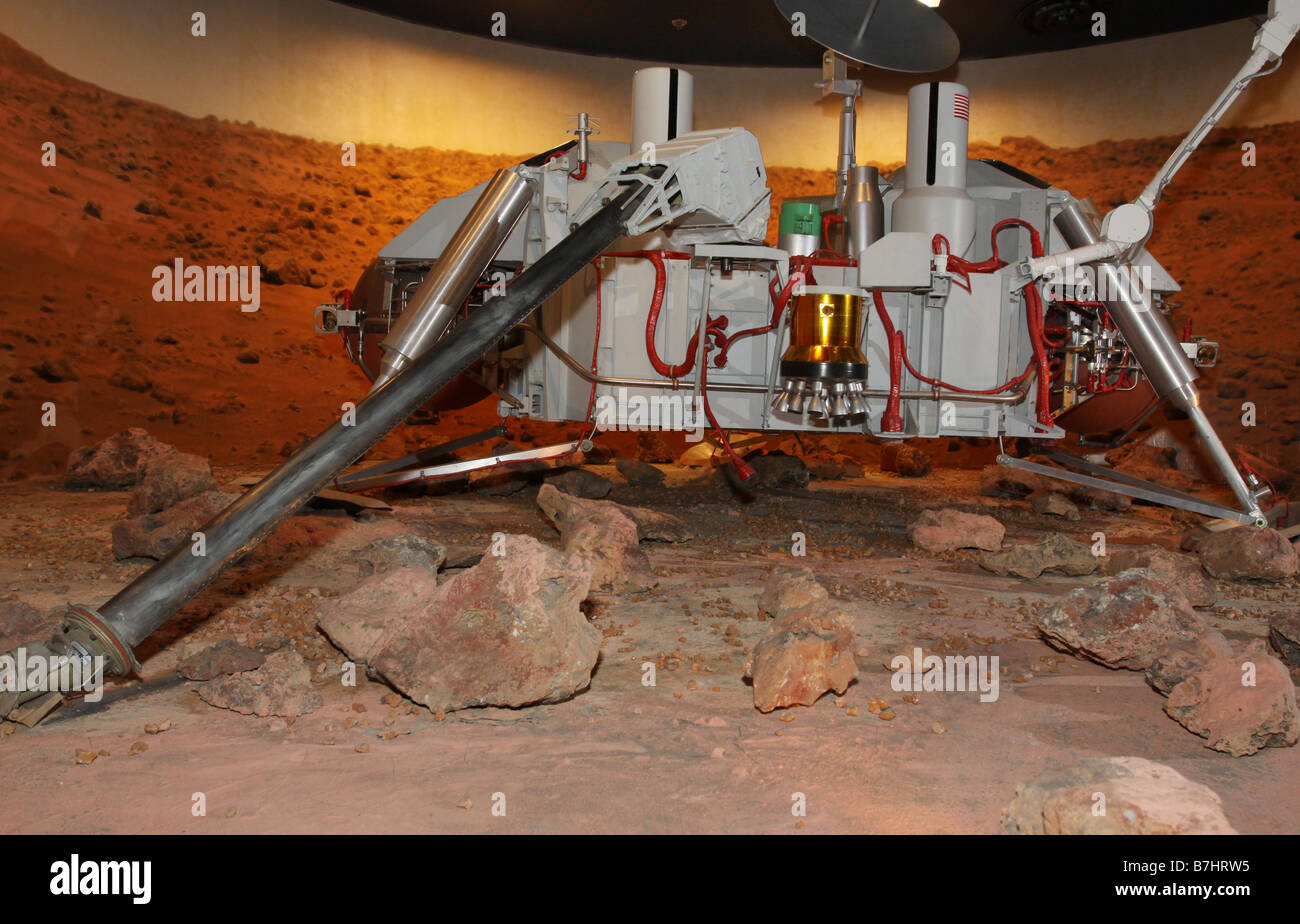 NASA Viking Mars lander model Kennedy Space Center Cape Canaveral - Stock Image