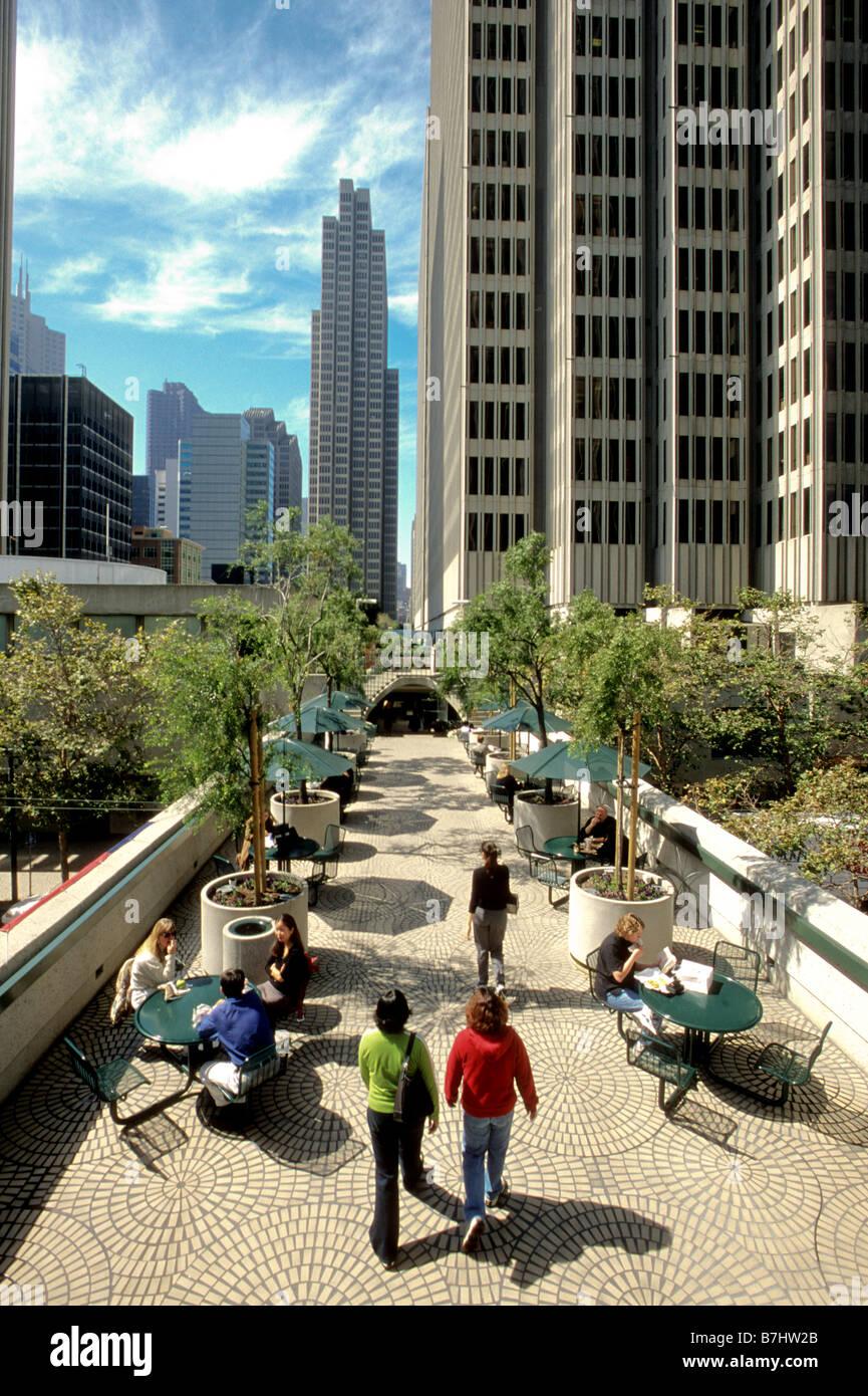 View Of Walkway At Embarcadero Center San Francisco California