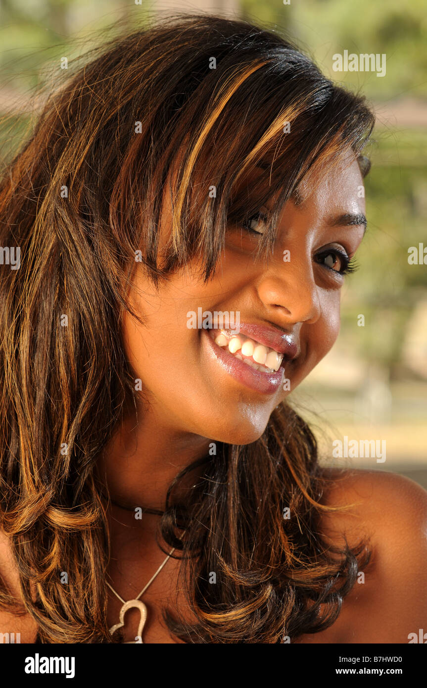 black african personality girl - Stock Image