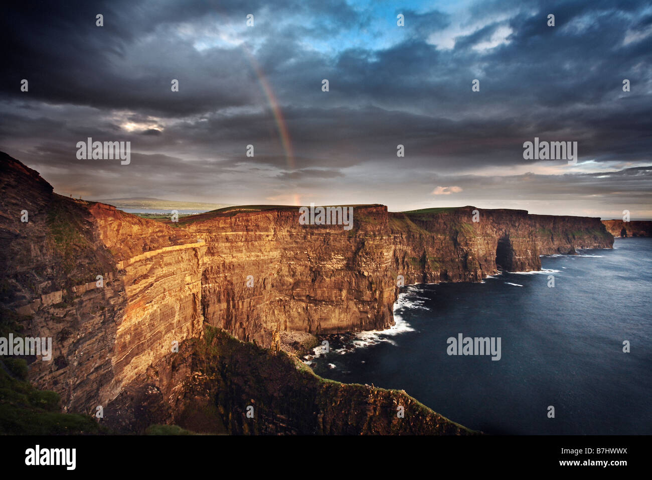 Cliffs of Moher, County Clare, Republic of Ireland. - Stock Image