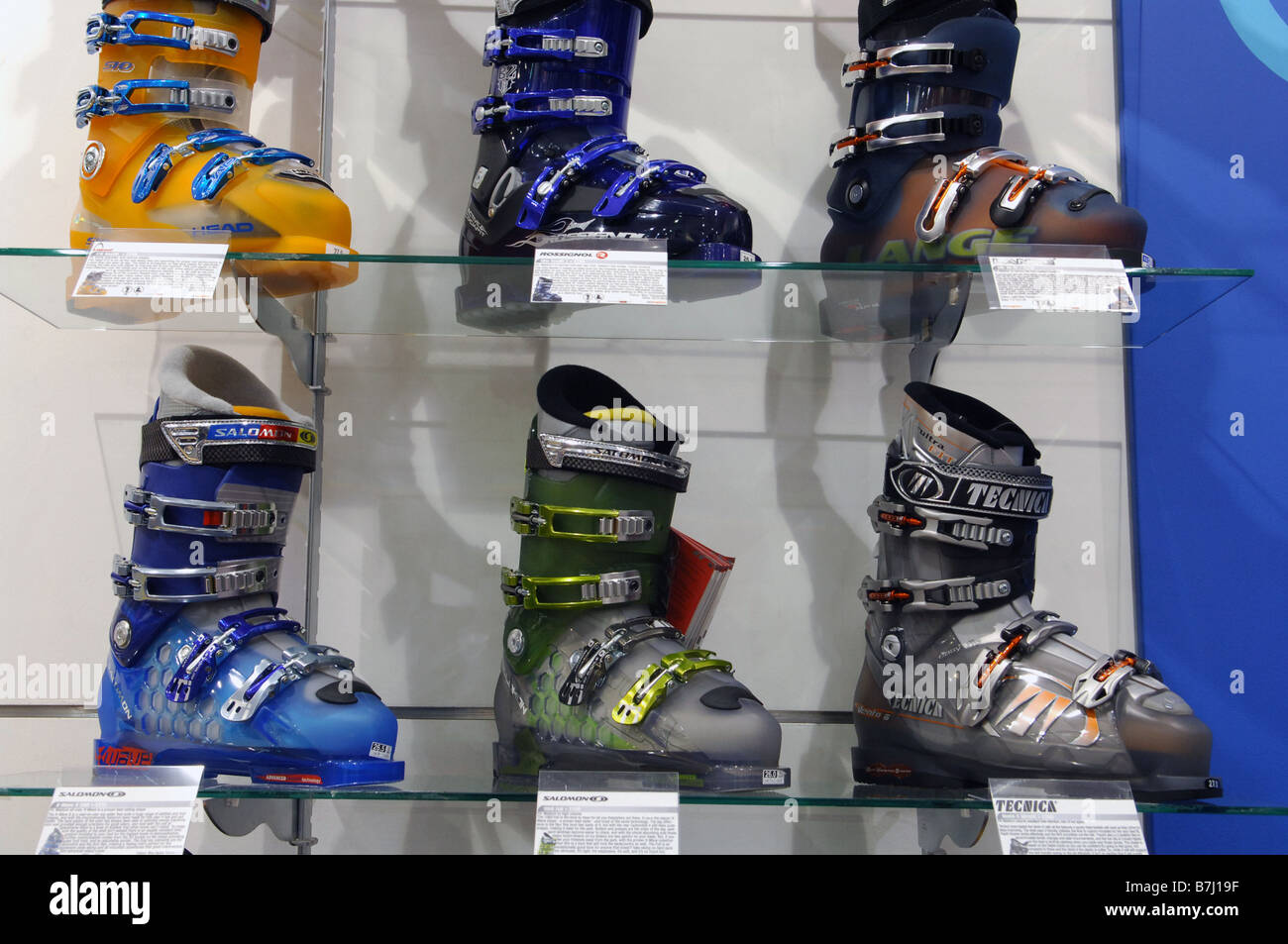 really comfortable in stock super cheap A shop display of ski boots in a ski shop Stock Photo ...