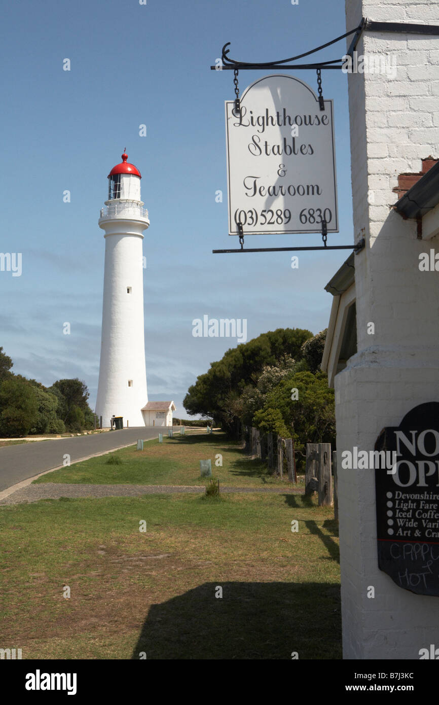Split Point Lighthouse ( Ayries Inlet between Anglesea & Lorne, Great Ocean Road, Victoria, Australia) - Stock Image
