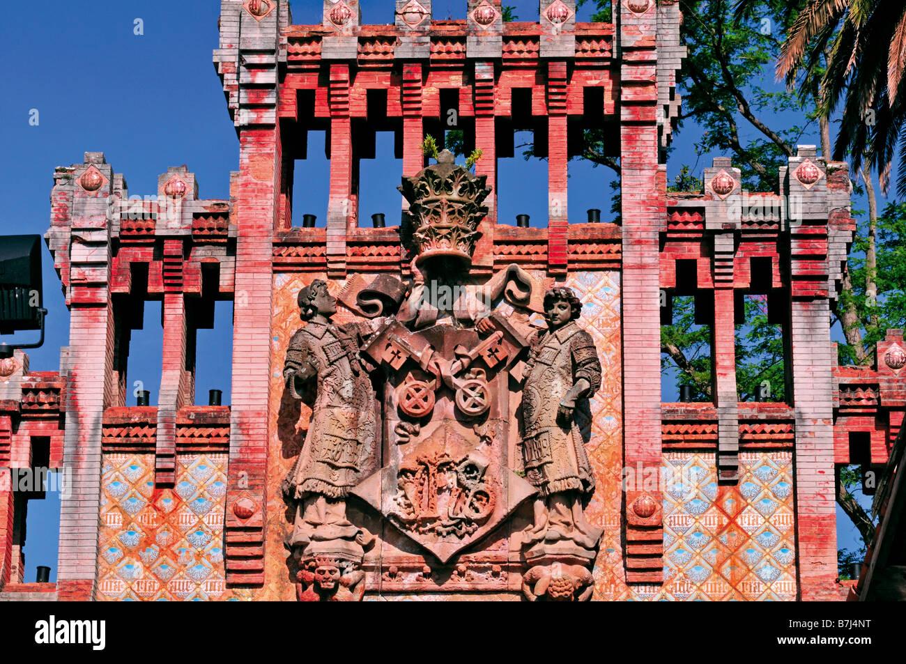 Historical portal of the Universidad Pontificia in Comillas - Stock Image