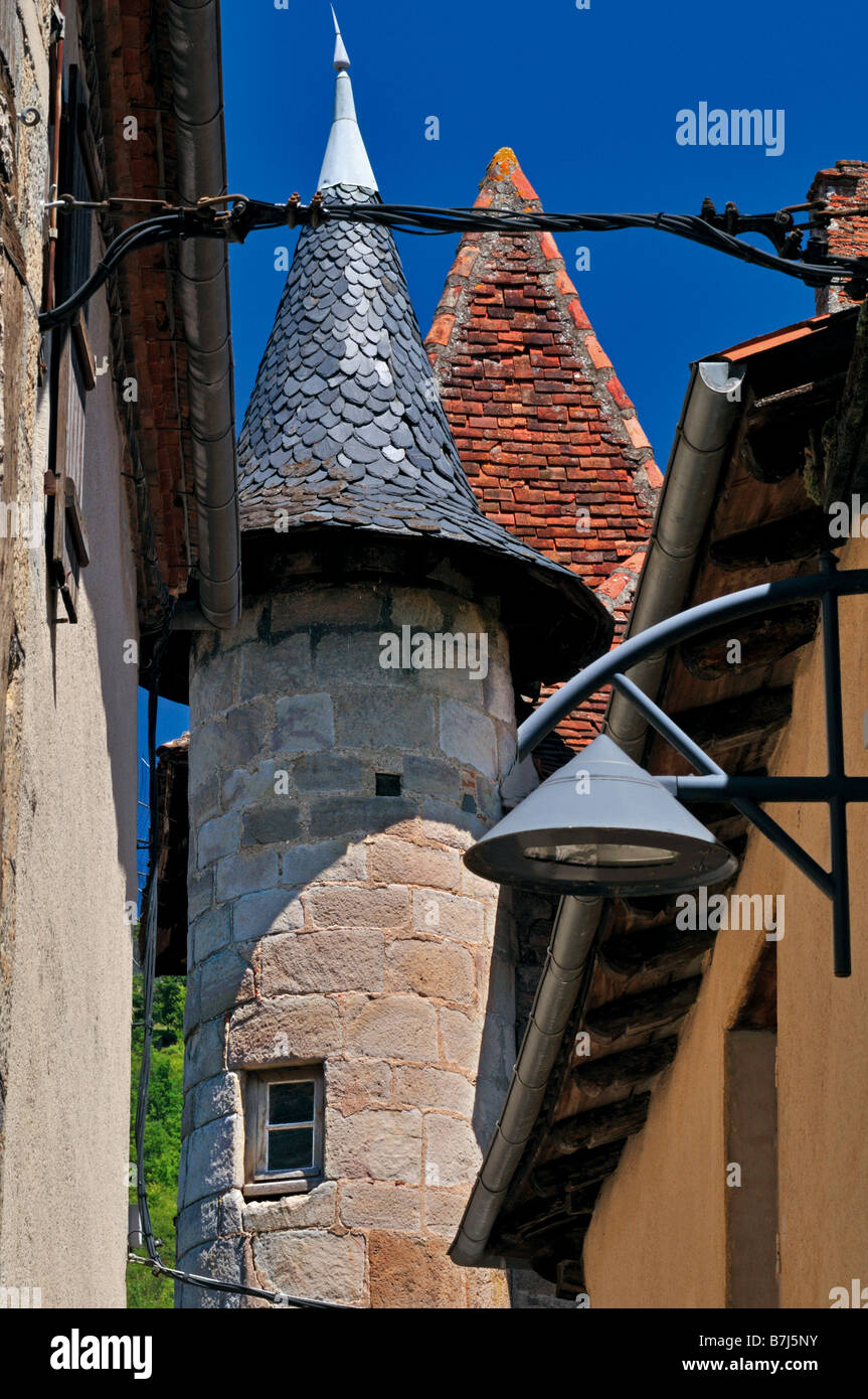 Rue St. Cyr in the medieval center of St. Ceré, Nature Park Causses du Quercy, France - Stock Image