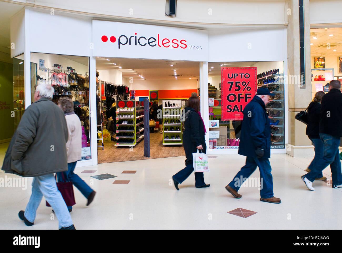Priceless storefront - Stock Image