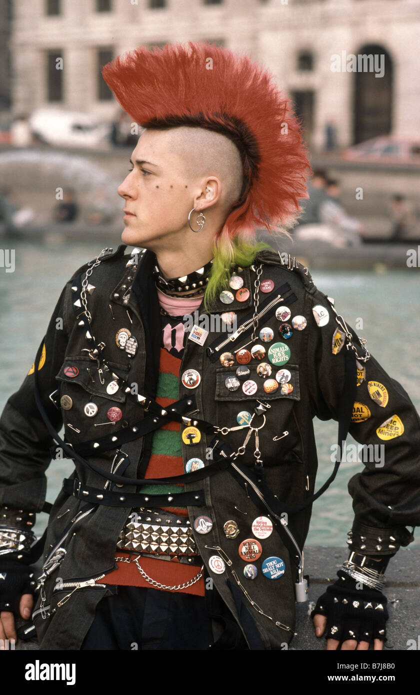 Punk Boy From The Early 1980 S Stands In Front Of