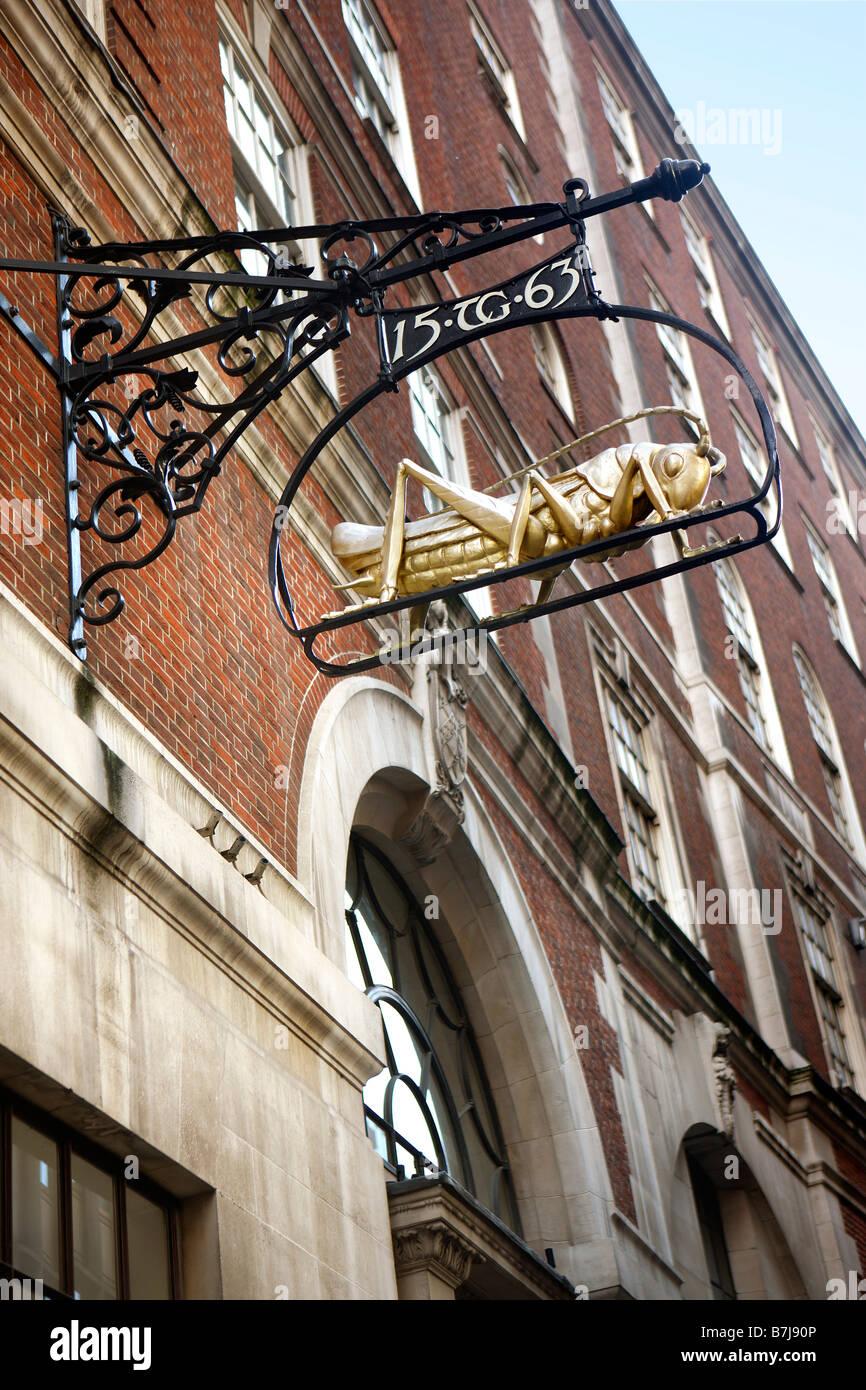 Unusual Shop Sign, Lombard Street, Bank, London - Stock Image