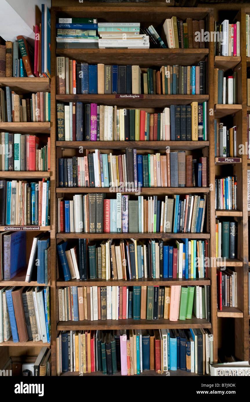 Books On Shelf In Bookshop - Stock Image