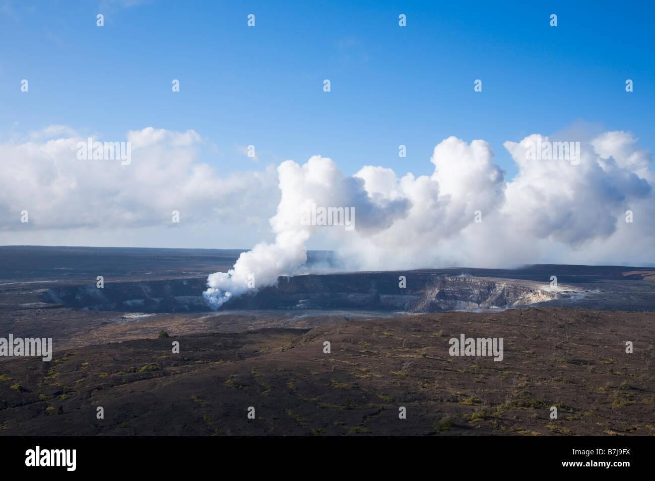 Steam Vent in Halema'uma'u Crater in Kilauea Caldera Hawaii Volcanoes National Park Big Island Hawaii USA - Stock Image