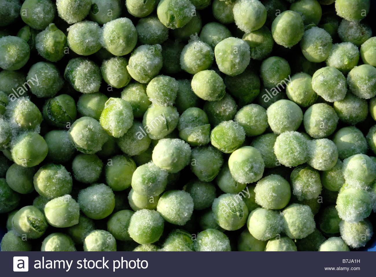 Frozen garden peas pea freeze