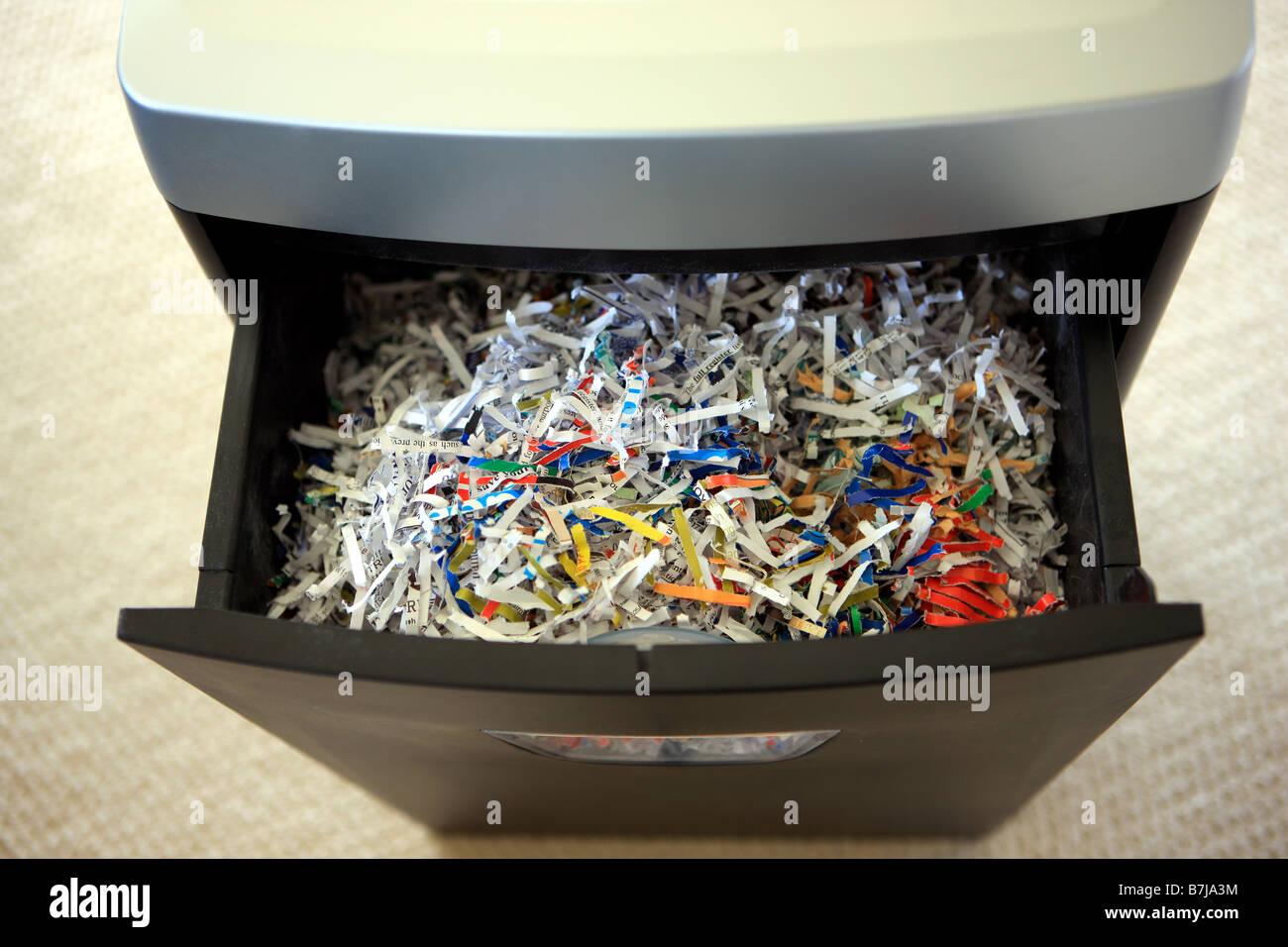 Shredded paper - Stock Image