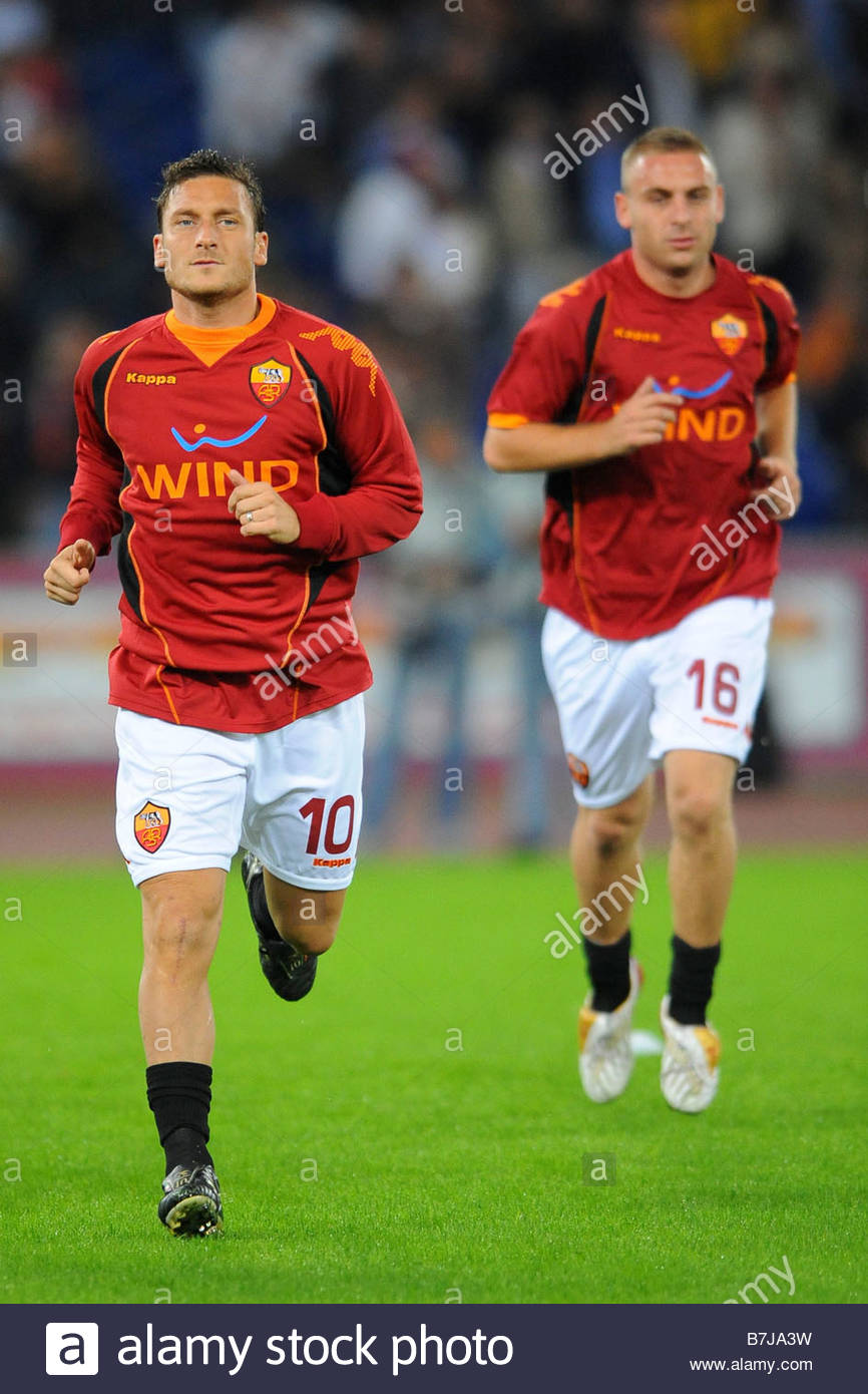 francesco totti and daniele de rossi'roma 19-10-2008'serie a football championship 2008-2009'roma-inter 0-4'photo - Stock Image