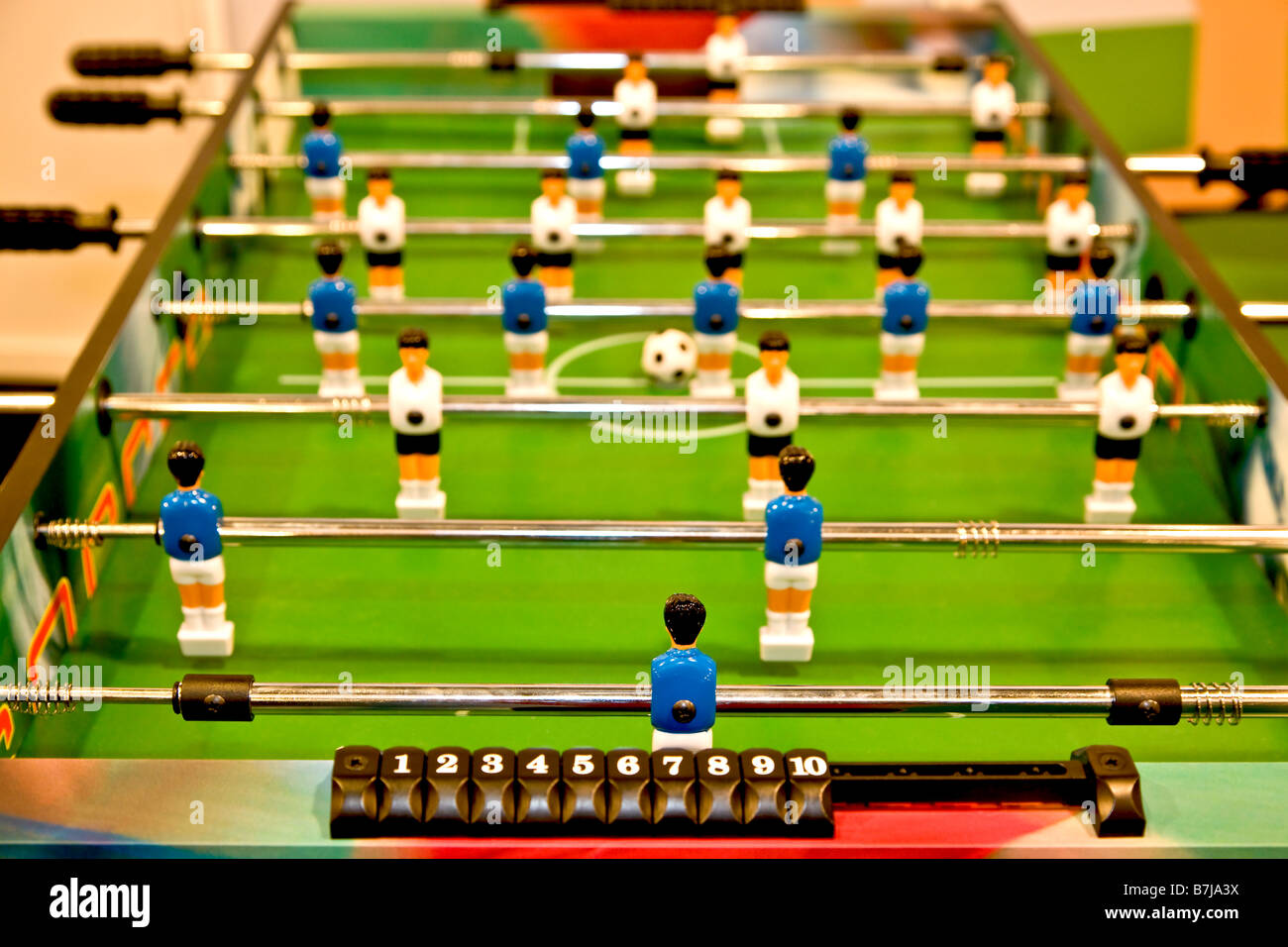 Table soccer game - Stock Image
