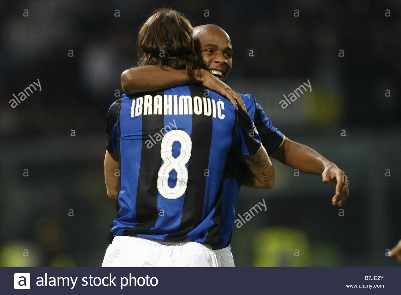 zlatan ibrahimovic and maicon'palermo 15-11-2008 'serie a football championship 2008/2009 'palermo-inter 0-2'photo - Stock Image
