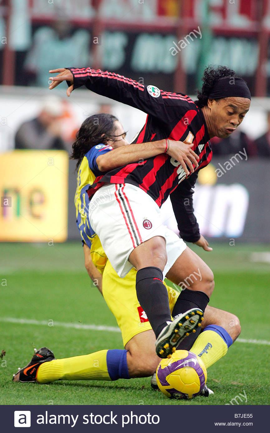 ronaldinho'milan 16-11-2008 'milan-chievo 1-0 'italian soccer championship 2008-2009, serie a'milan-chievo 1-0 'photo - Stock Image