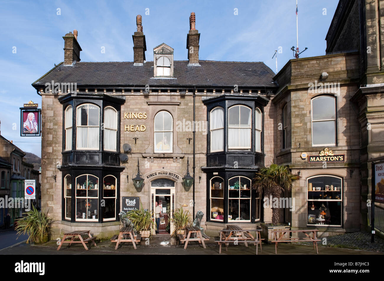 Kings Head Hotel in Buxton, Derbyshire, England - Stock Image