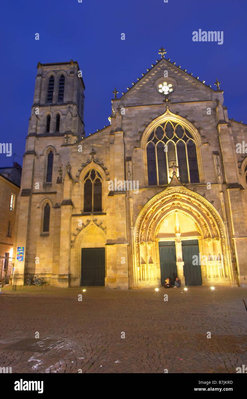 saint pierre church bordeaux france - Stock Image