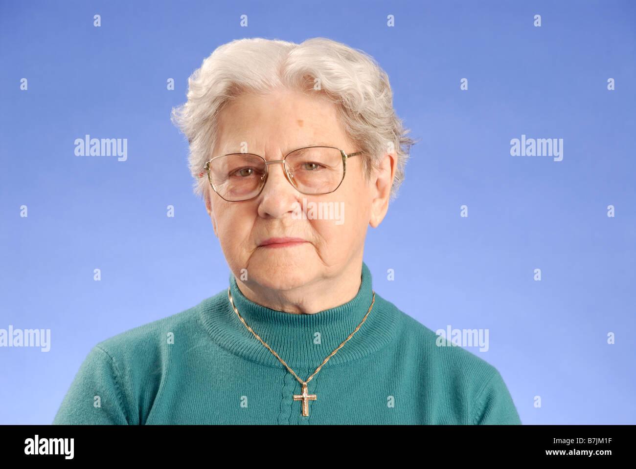 Senior Woman  ; Canada, Saskatchewan, Regina - Stock Image