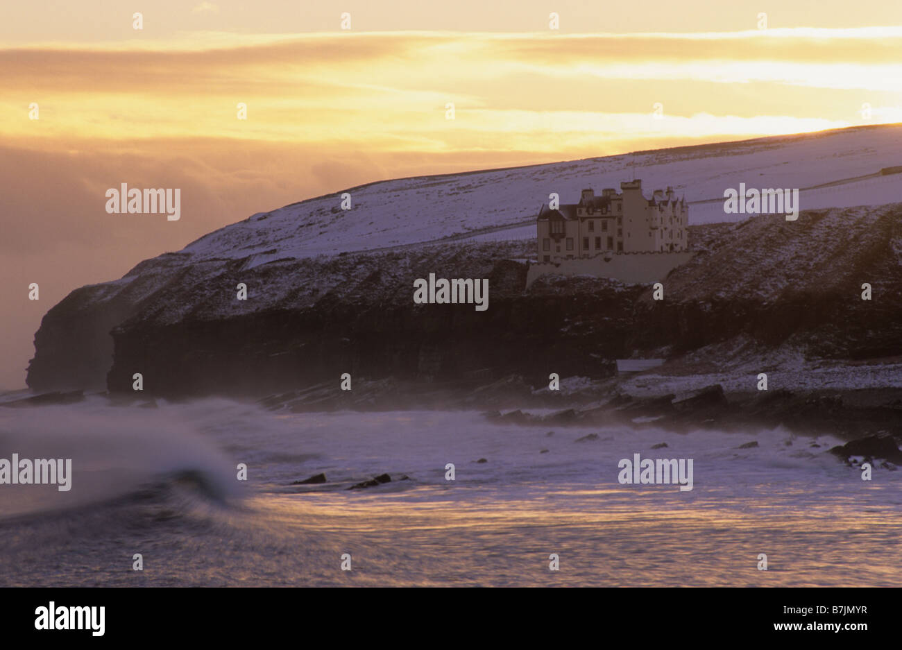 Dunbeath Castle, Dunbeath, Caithness, Scotland, winter. Stock Photo
