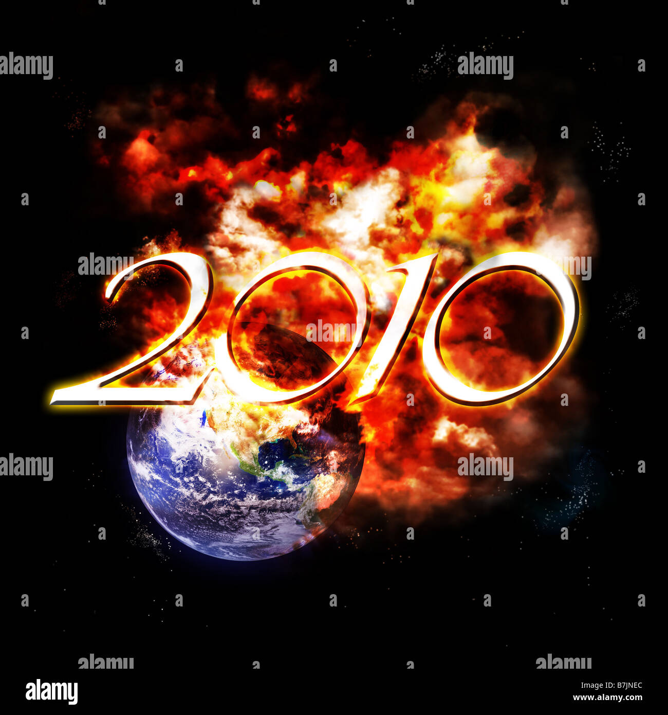 the year 2010 is comming soon Stock Photo