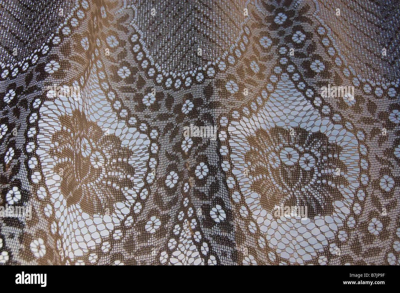 Net curtain - Stock Image