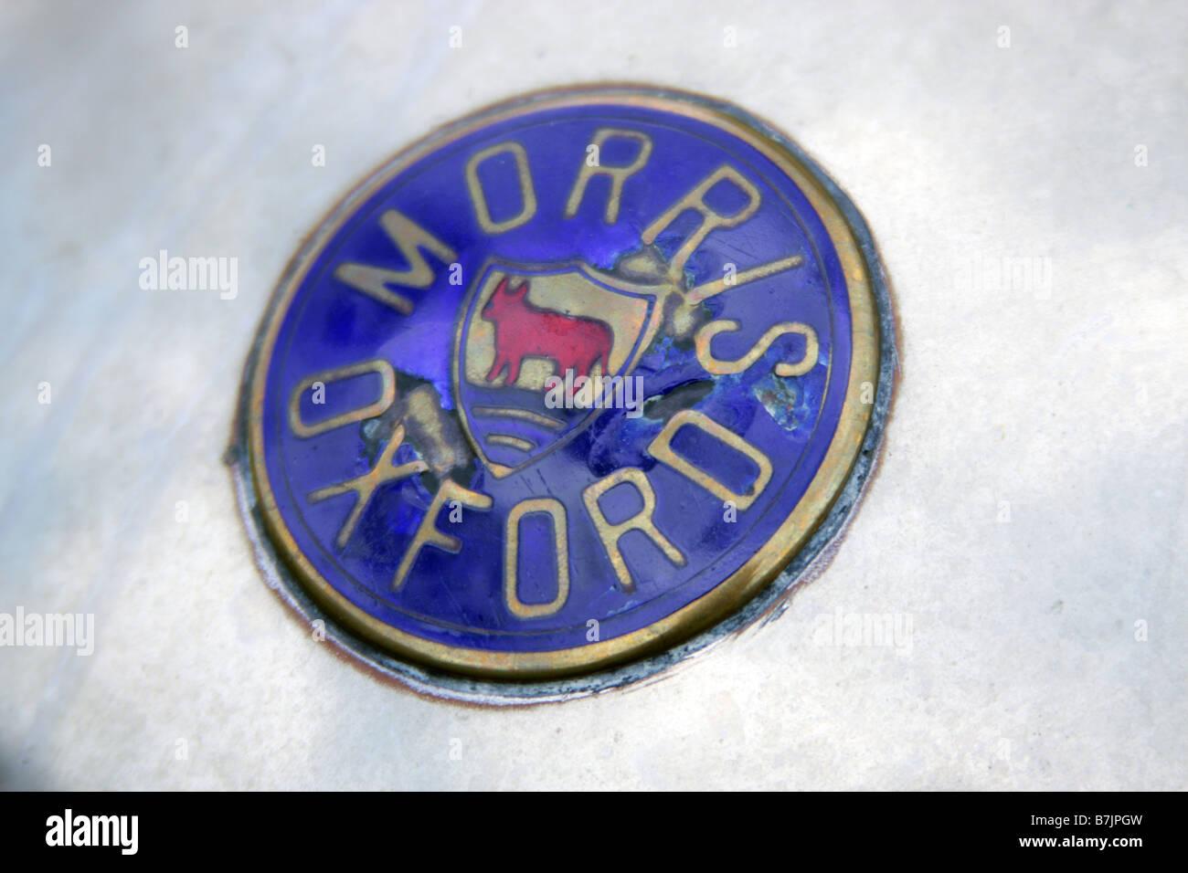 Old Morris Motors Ltd Oxford Car badge - Stock Image