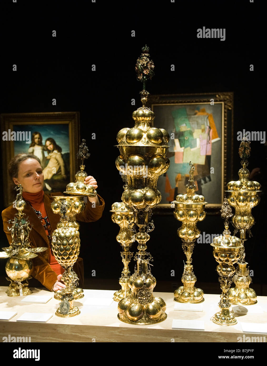Bodendick table fountains from the  Yves Saint Laurent and Pierre Berge' Collection at Christie's London, - Stock Image