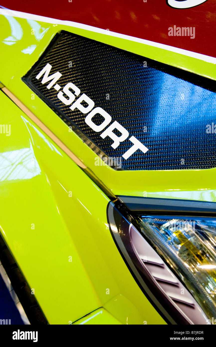 Photograph of a Ford Focus WRC 2008 front wing / light - Stock Image