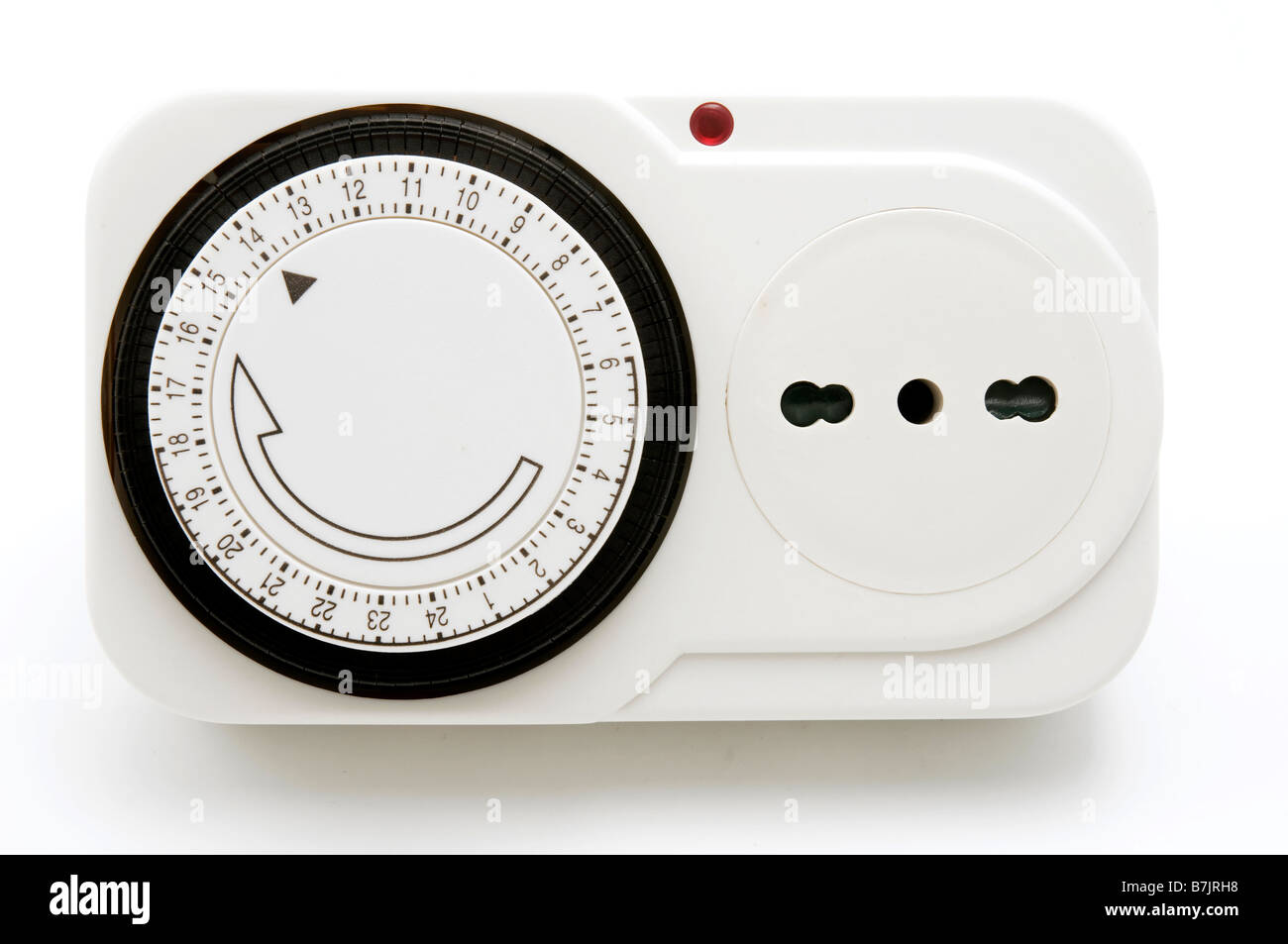 Electric Timer on a white background - Stock Image