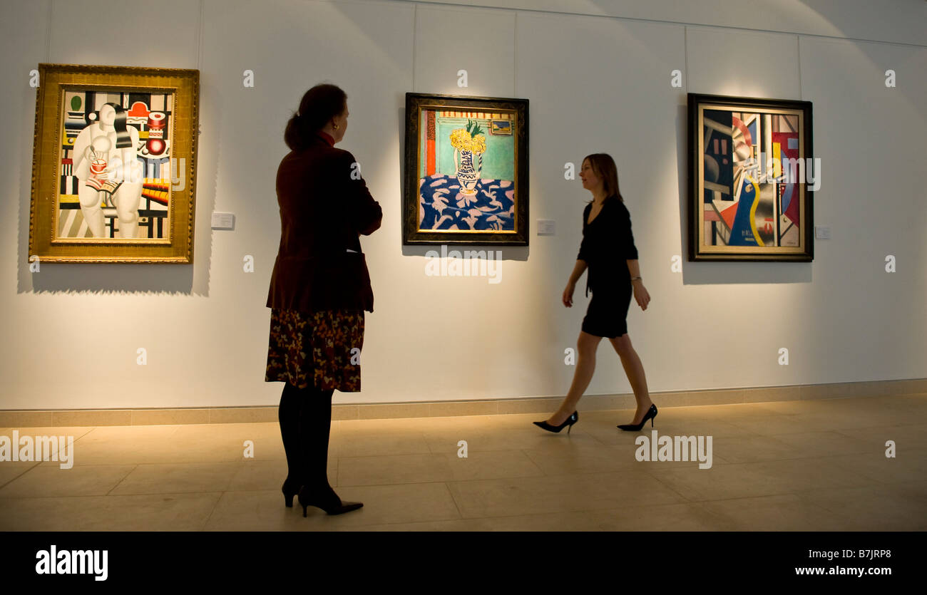 Three Fernand Leger paintings from the  Yves Saint Laurent and Pierre Berge' Collection at Christie's London - Stock Image