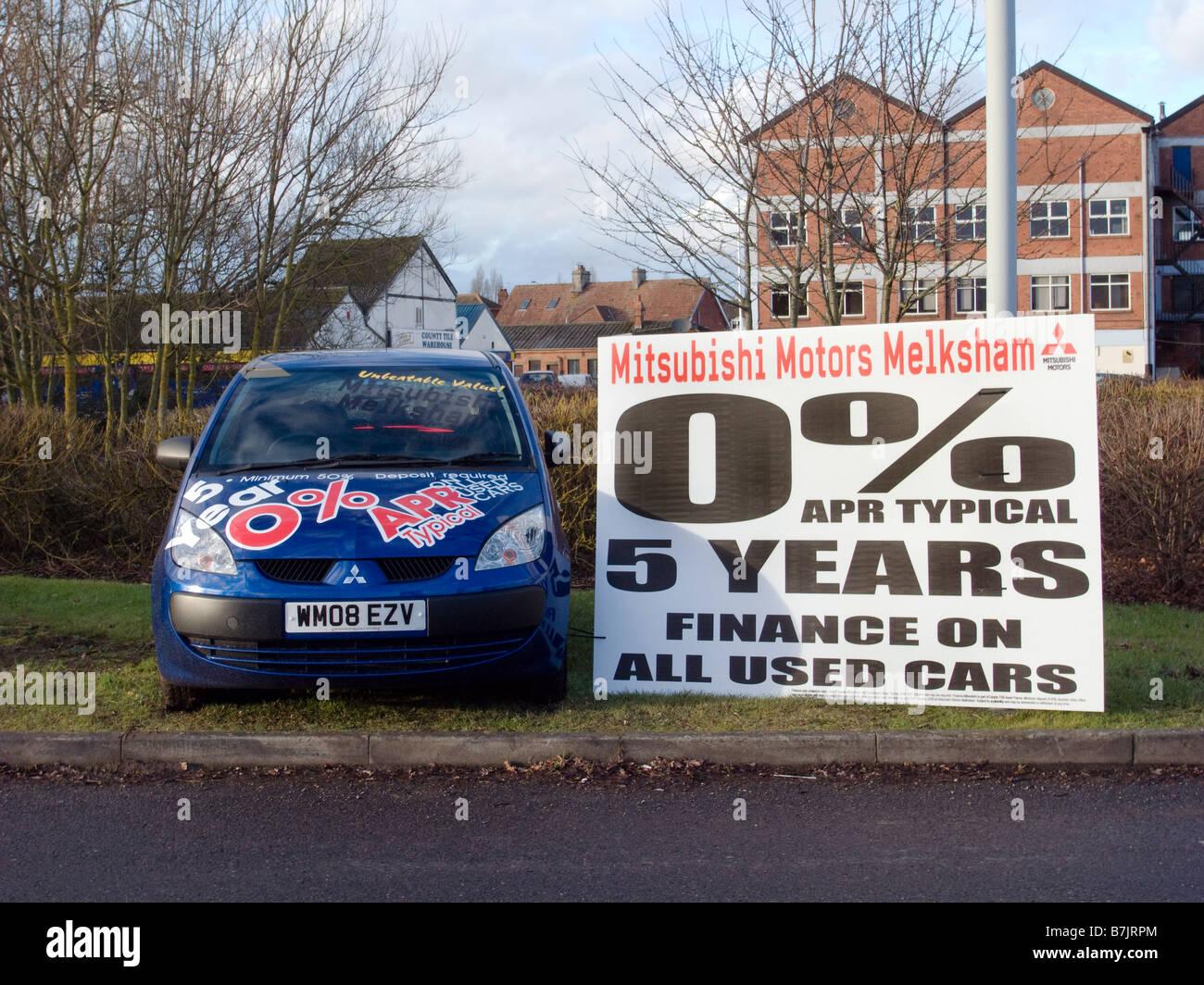 Easy credit sale promotion in Melksham UK EU - Stock Image