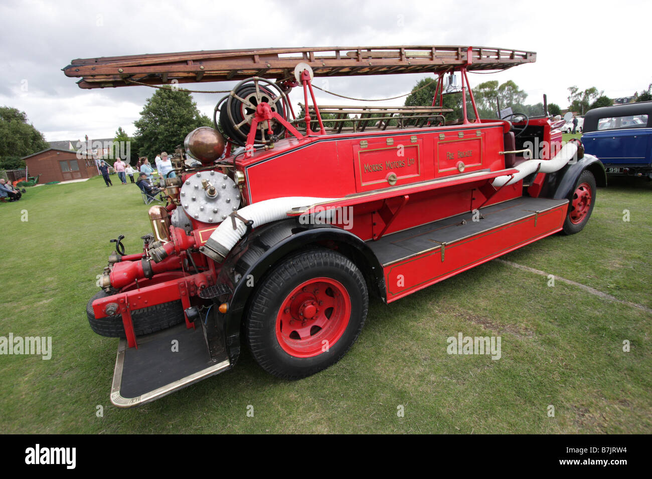 Old Morris Motors Fire Engine at Cowley Classic Car Show in Oxford 2008 Stock Photo