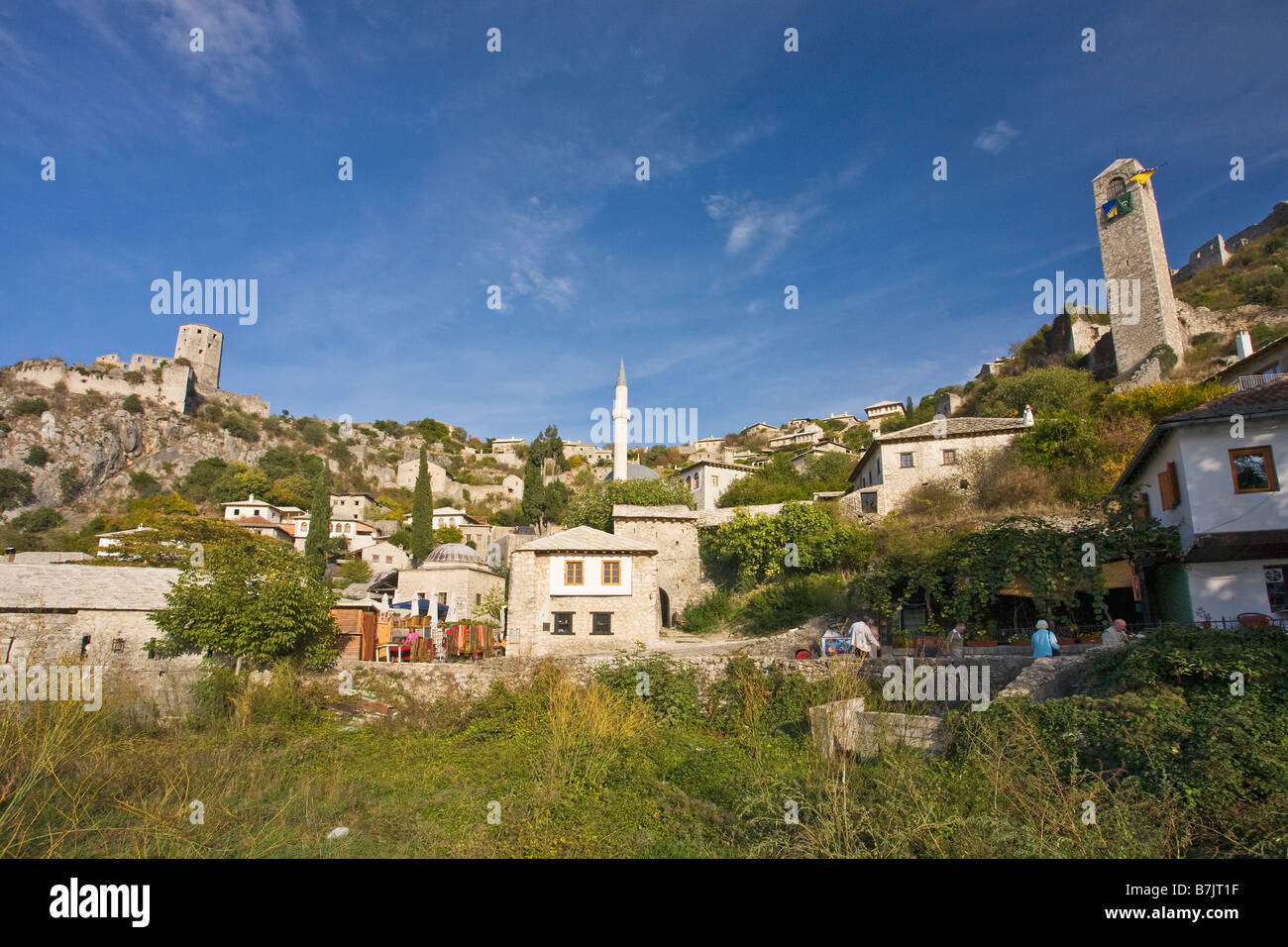 Historic Old Town Bosnia Herzegovina Europe - Stock Image