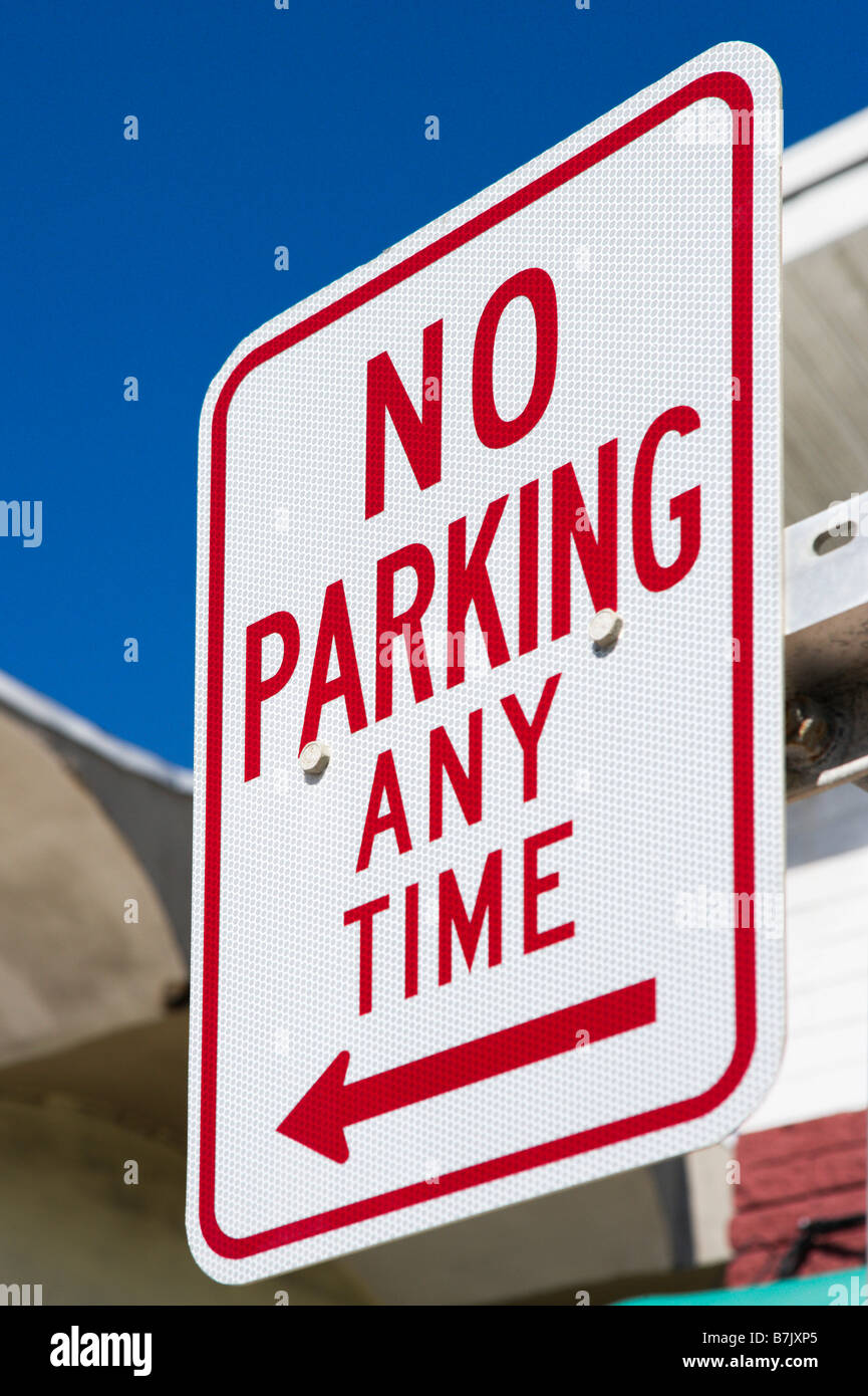 No Parking Sign, Florida, USA - Stock Image