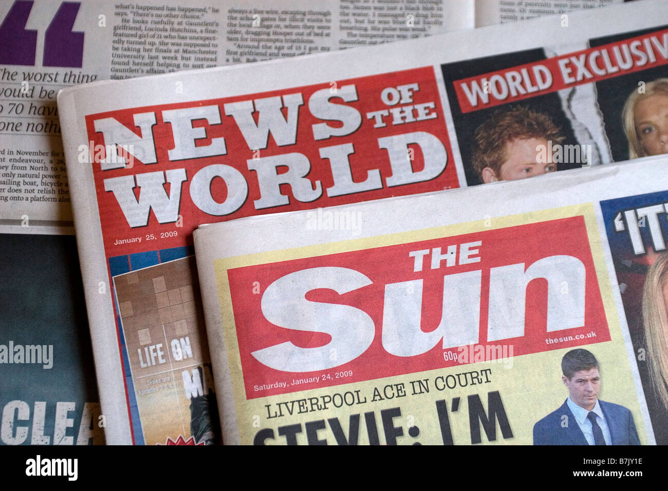 News Of The World and The Sun - Stock Image