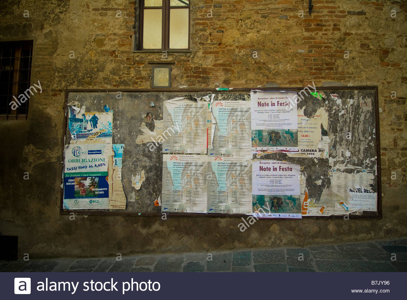 Bulletin board - Stock Image
