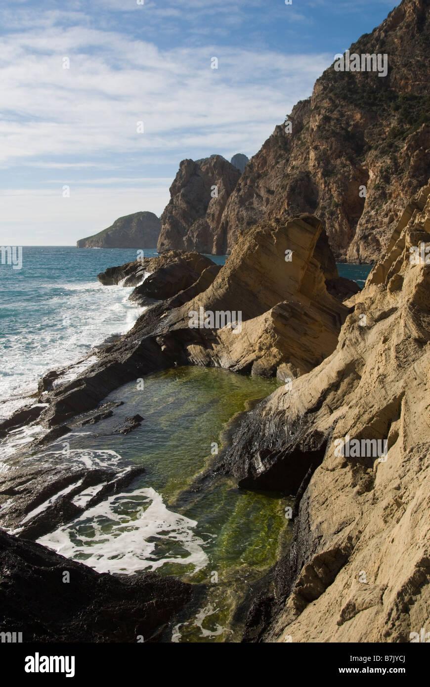 General view of Sa Perera (Atlantis), Ibiza Stock Photo