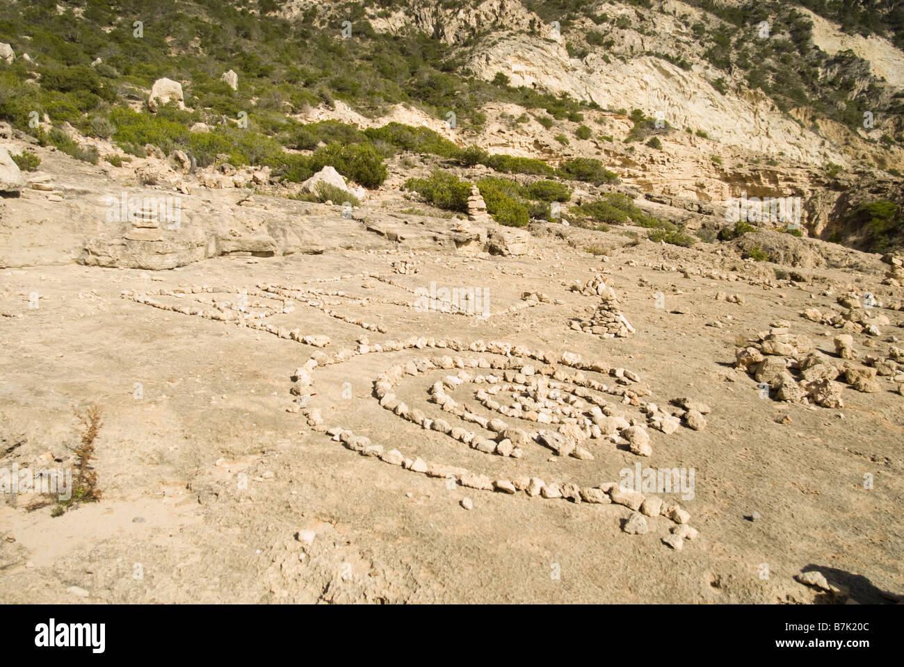 Stone formations at Sa Pedrera (Atlantis), Ibiza Stock Photo