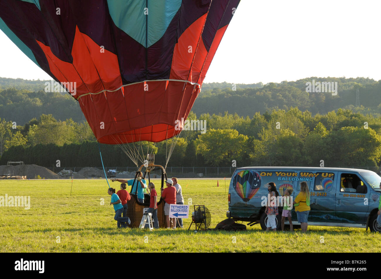 Hot air balloon being prepared for flight Stock Photo: 21931789 - Alamy