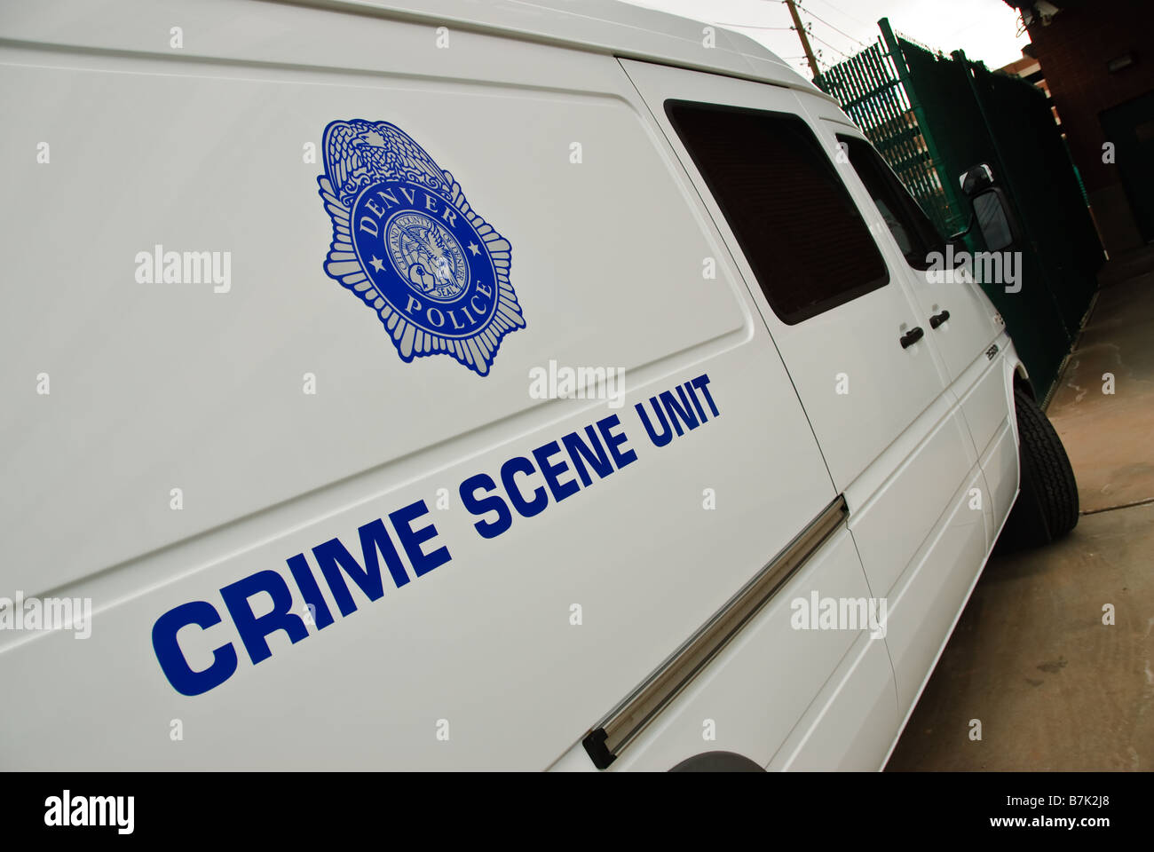 Crime scene unit - Stock Image