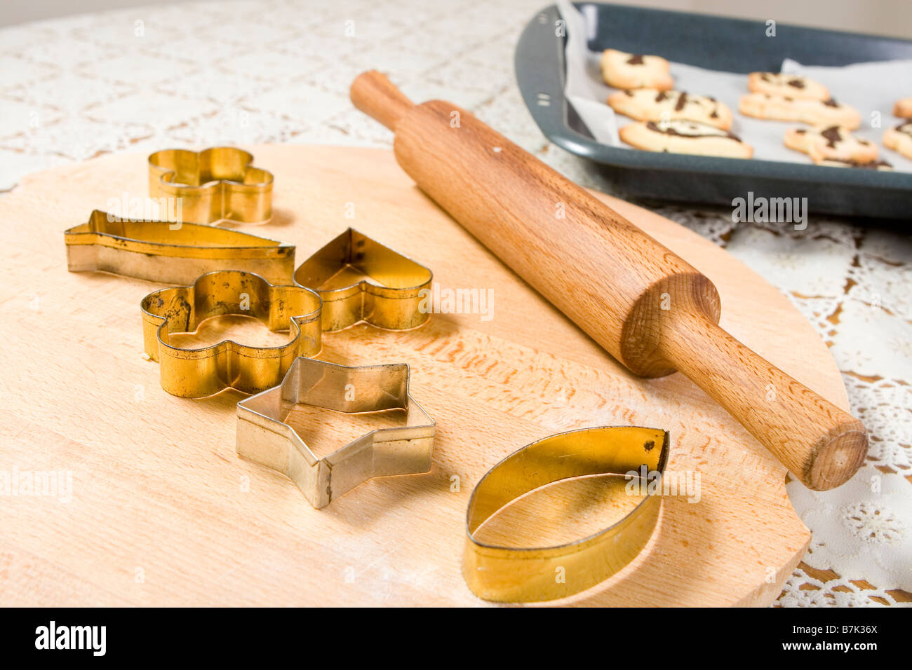 old cookie cutters - Stock Image