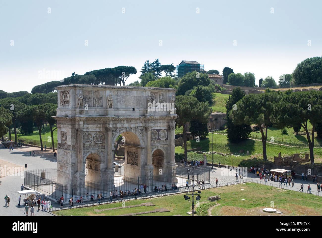 Arco Di Constantino, Arch of Constantine, Rome Stock Photo