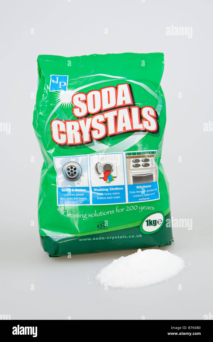 Bag of soda crystals - Stock Image