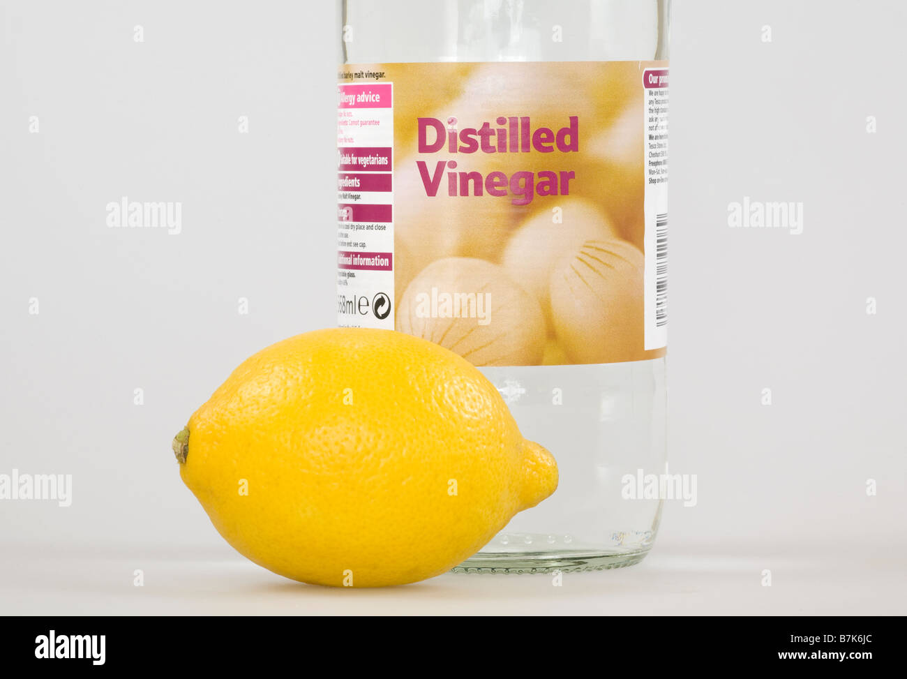 Vinegar and lemon - Stock Image