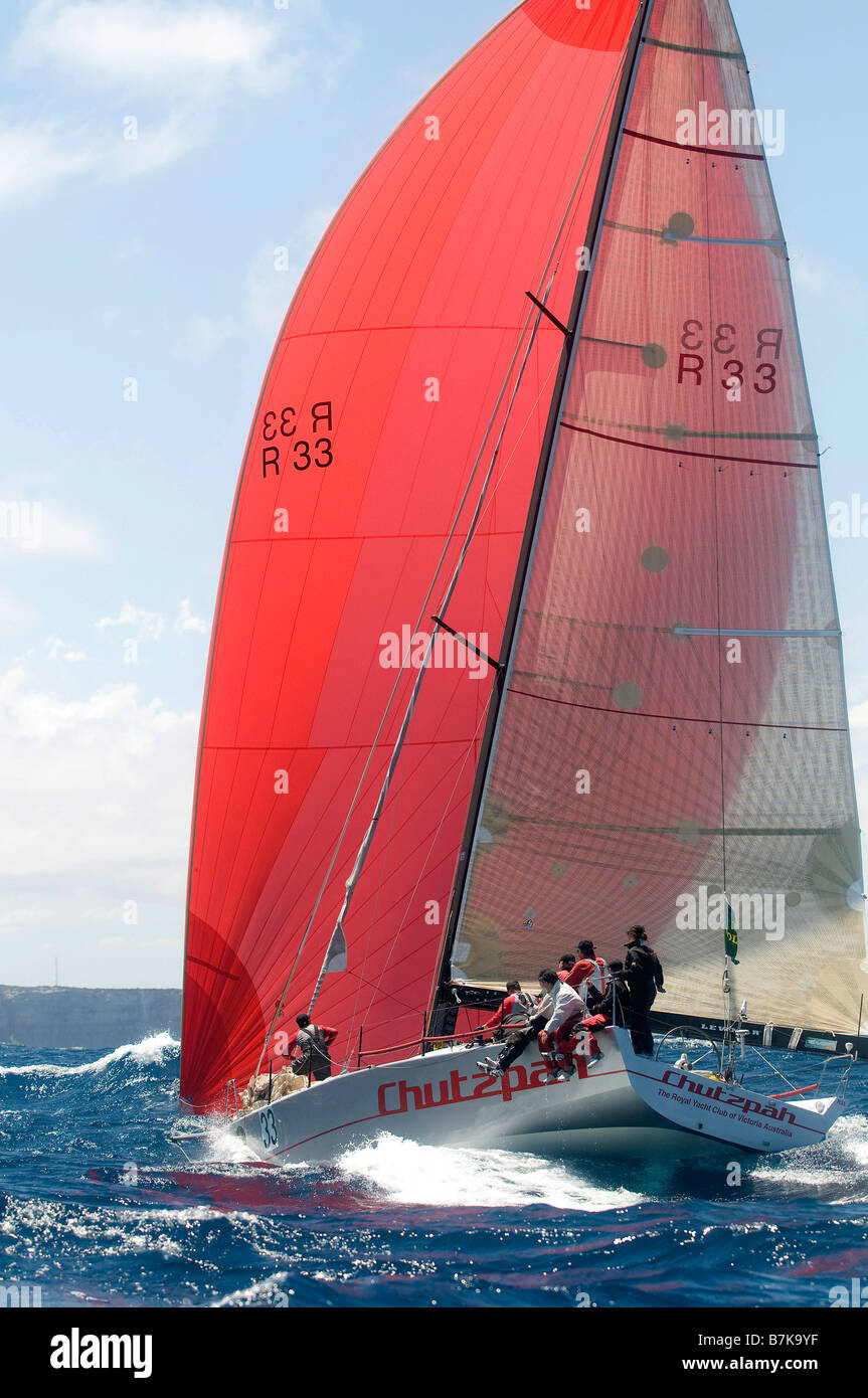 yacht racing sydney australia - Stock Image