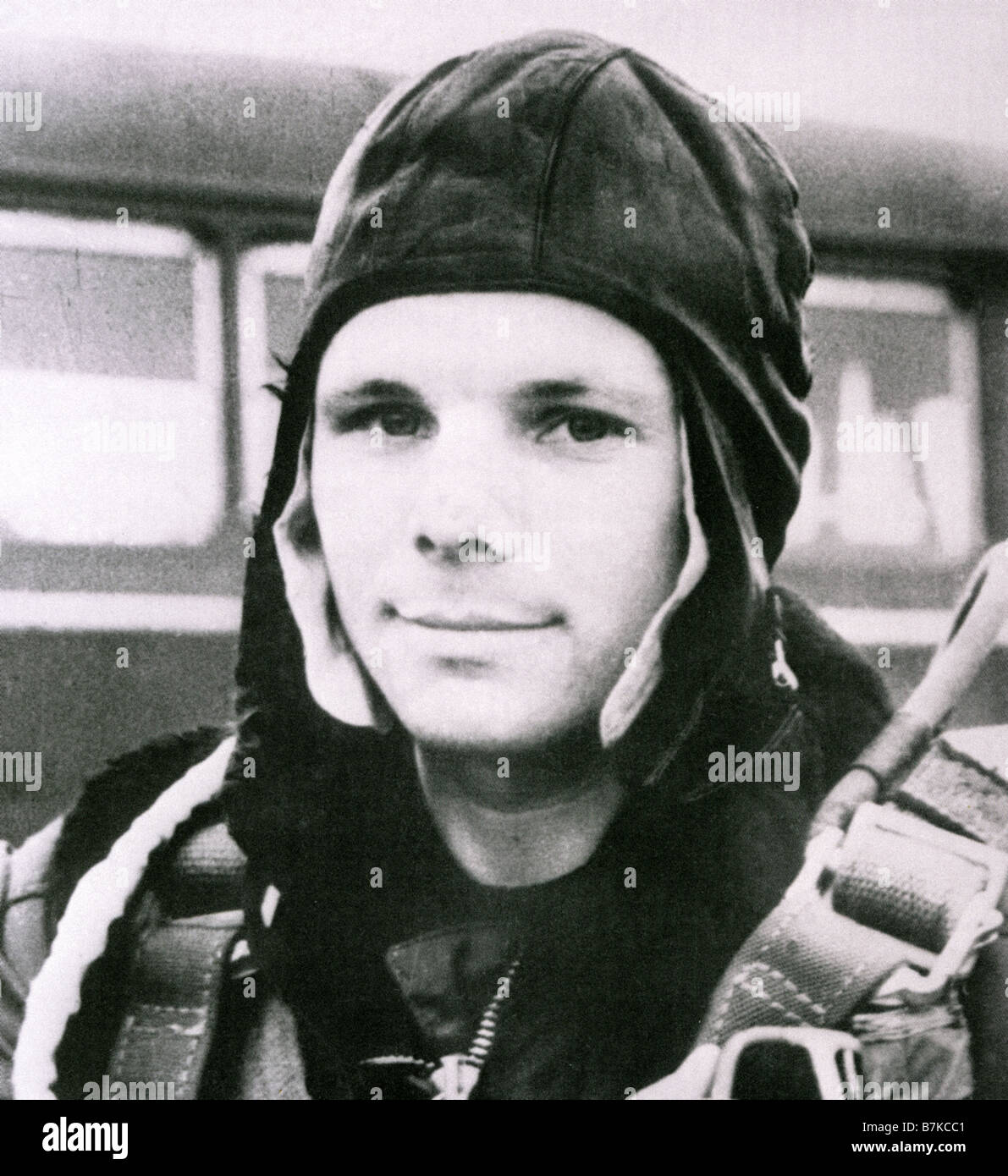 YURI GAGARIN Soviet Airforce Major aged 27 was the first man to orbit the earth on 12 April 1961 - Stock Image