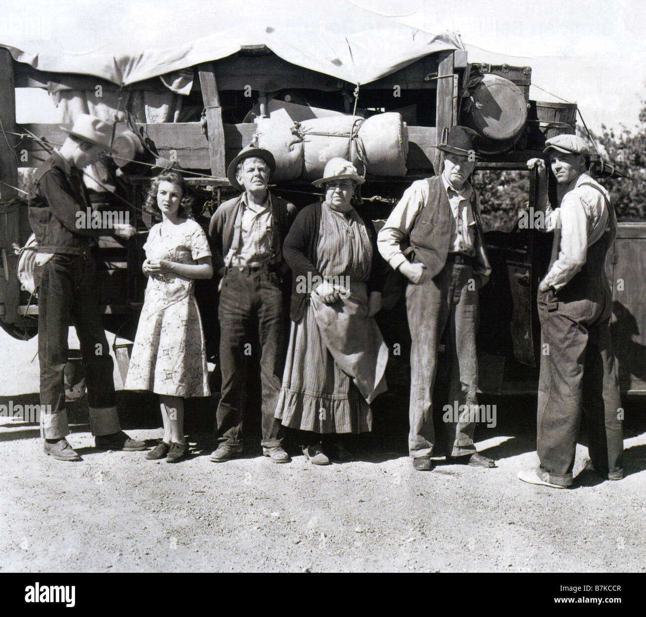 GRAPES OF WRATH 1940 TCF film with Henry Fonda at right in John Ford's screen adaption of the novel by John - Stock Image