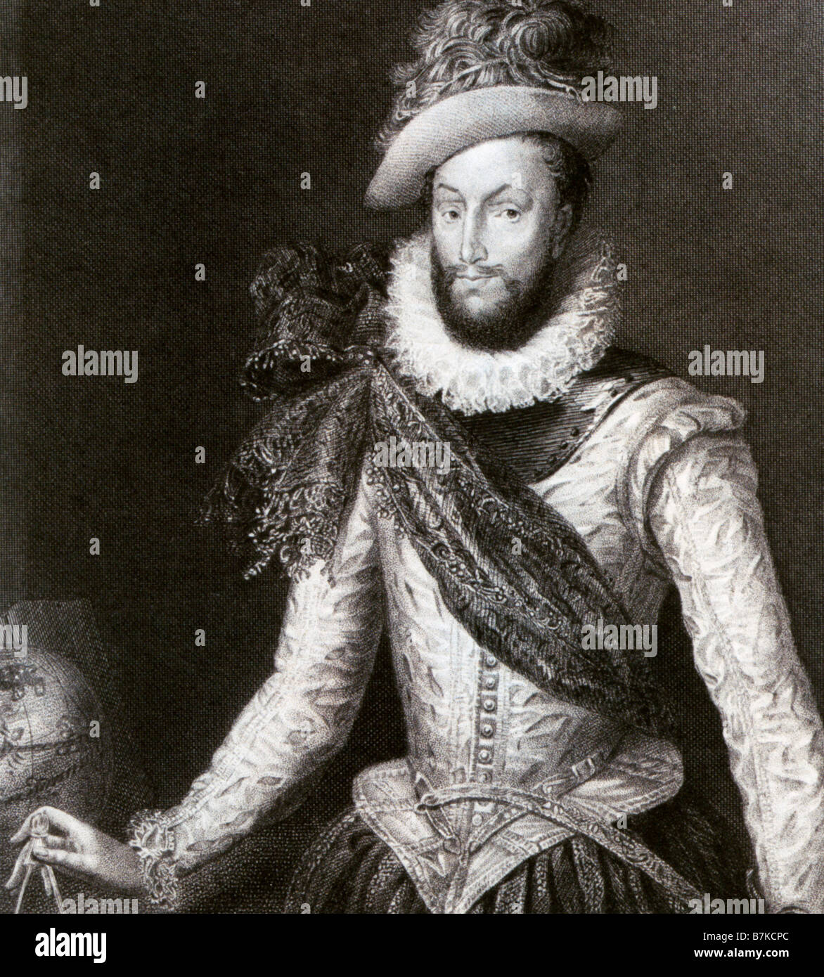 SIR WALTER RALEIGH  English courtier, navigator and poet 1552-1618 - Stock Image