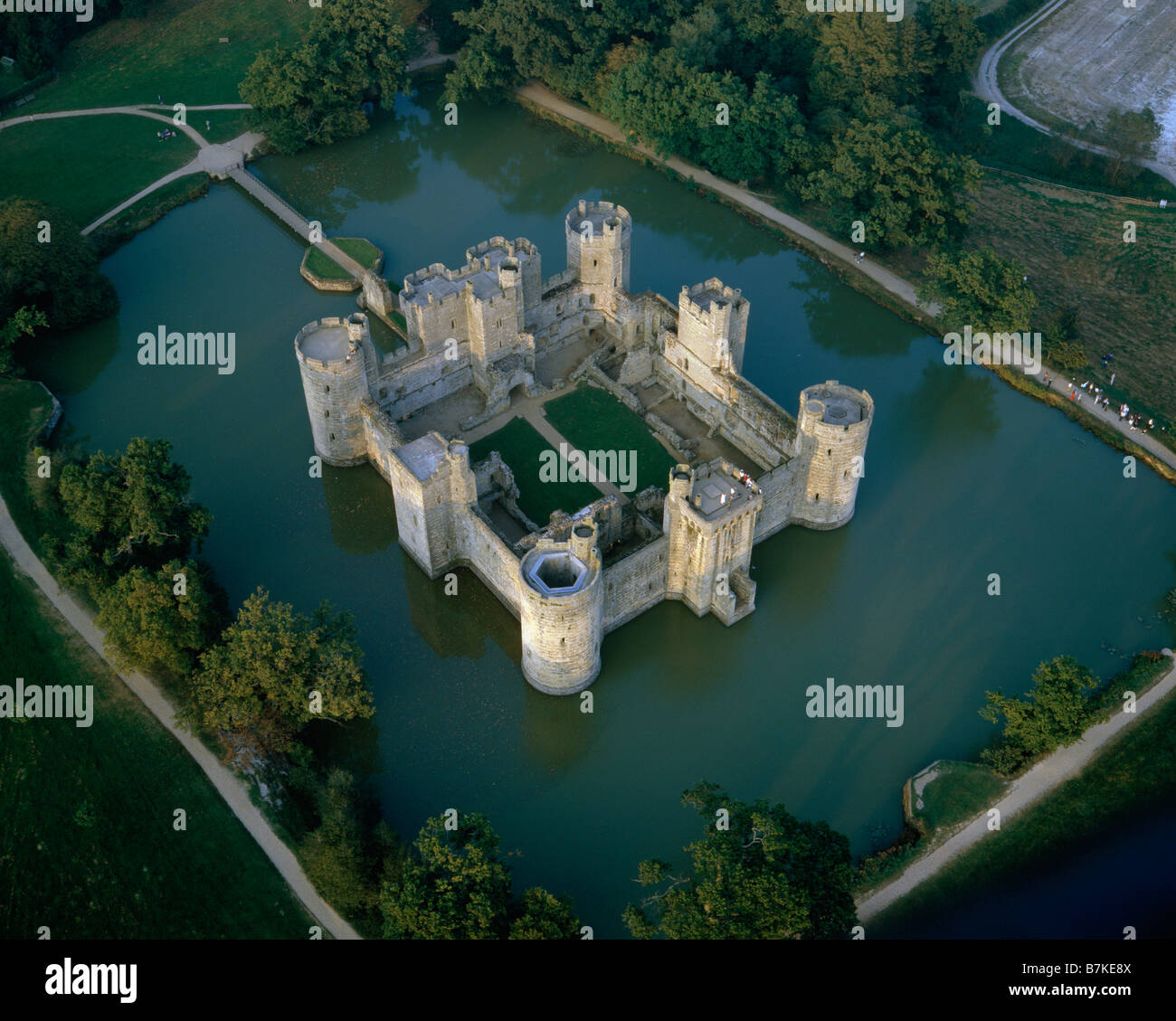 Bodiam Castle Sussex Aerial View Stock Photo 21941274 Alamy