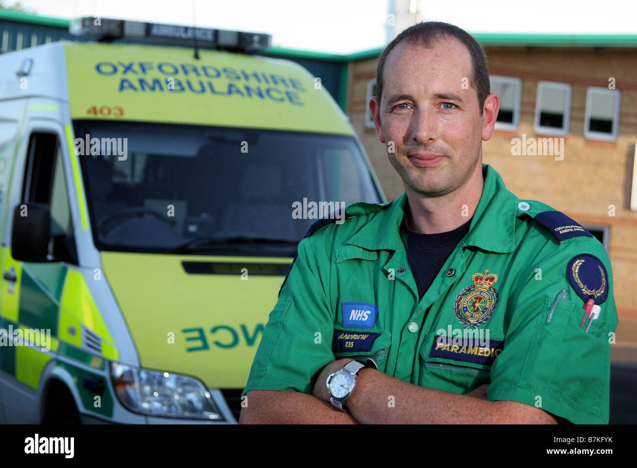 Paramedic Andy Ball in Oxfordshire - Stock Image
